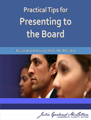 Practical Tips for Presenting to the Board